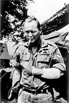Norman Schwarzkopf Recovering from injuries in Vietnam, 1966.