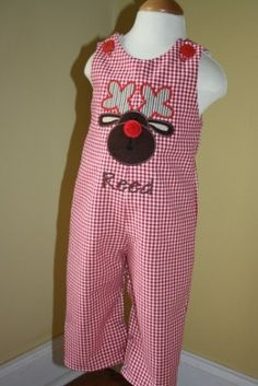 Reindeer Christmas longall by Gigibabies. $40.00, via Etsy.