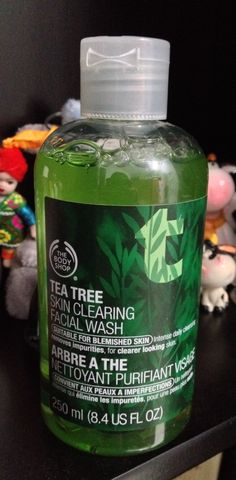 Tea Tree Facial wash from The Body Shop. It's the best to cure acne face, oily face and use to prevent them.!