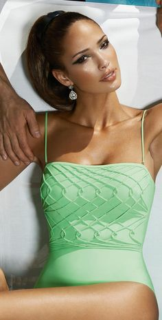 Fashion/ Bathing Suit/  #Couture Pistachio #Mint One Piece #Swimsuit