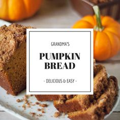 Every holiday, even on some random weekends, my grandmother would always make pumpkin bread. This is the recipe she used. It was always so delicious and moist. This recipe is one of my absolute favorite things in the entire world.  Please try it out for yourself and enjoy!  Happy Baking!