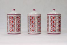 CHODZIEZ Porcelain 1960s Kitchen Containers by antartcollection