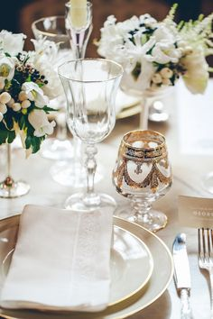 Elegant Wedding Place Setting | photography by http://www.lesamisphoto.com/