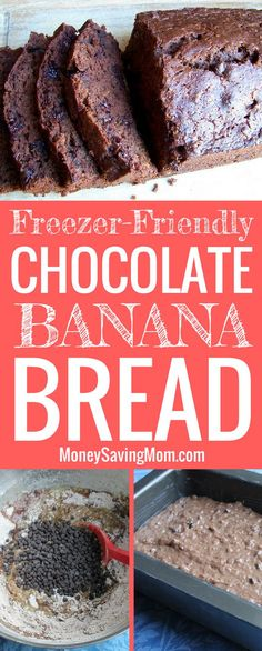 This Chocolate Banana Bread is SO delicious and easy to whip up! Plus, it freezes great!