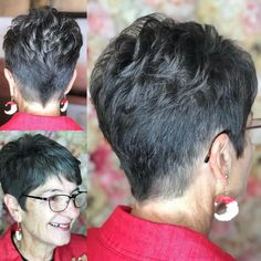 The Short Pixie Cut - 58 Great Haircuts You'll See for 2019 - Hairstyles Trends Very Short Pixie Cuts, Very Short Hair, Short Pixie Haircuts, Haircut Short, Long Pixie, Short Layers, Wavy Pixie, Pixie Crop, Hairstyle Short
