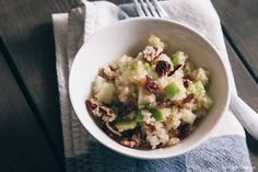 Quinoa Salad with Pecans, Apples and Cranberries