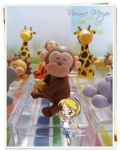 caixa acrílico festa safari