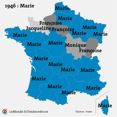 Evolution of the most popular First Names in France along the years - boys (top) and girls (bottom). More name maps >> Male Baby Names, Irish Baby Names, Hipster Baby Names, Names Girl, Hipster Babies, French Boys Names, Most Popular Boys Names, Disney Baby Names, Etat Civil