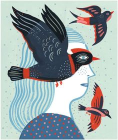 Laurent Moreau  Nouveau : Femme-oiseau  Image pour La maison est en carton