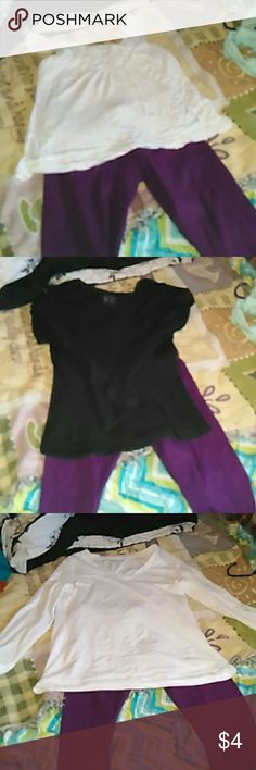 Leggings Plain purple leggings, nwot, I never wore them. They look cute with a sweater, leg warmers and boots. No Boundaries Pants Leggings