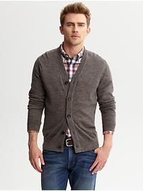 Banana Republic Heritage elbow-patch cardigan