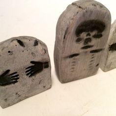 Lot of 5 Miniature Tombstones Halloween Skeleton | eBay