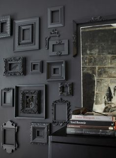 Black everything decor
