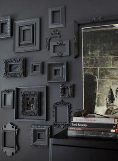 Black everything decor
