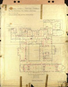 Polesden Lacey Electrical plan 1935 Ground floor (933×1200)