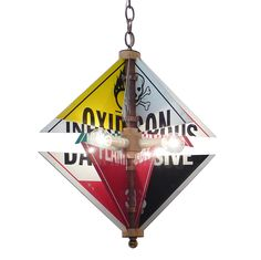 HAZARD SIGN CHANDELIER | Contemporary Lighting, Vintage Signage | UncommonGoods