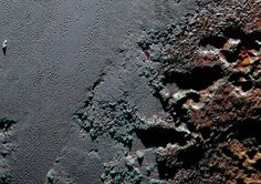 NASA Pluto's surface