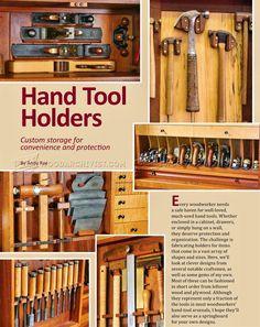 #2141 DIY Hand Tool Holder - Hand Tools Workshop Solutions