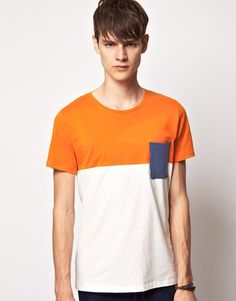 Asos Suit Block Color T-Shirt