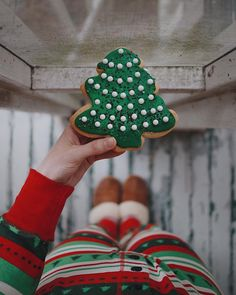 Christmas cookie, Christmas pjs + a cool, wintry afternoon 🌲