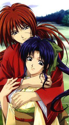 samurai x kenshin y kaoru - Rurouni Kenshin, Kenshin Anime, Manga Anime, Manga Art, Anime Art, Tomoe, Anime Fantasy, Saitama, I Love Anime