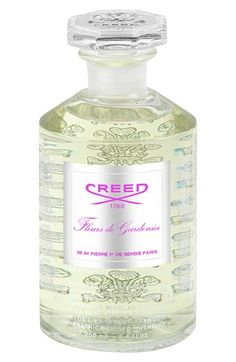 Creed 'Fleurs de Gardenia' Fragrance (8.4 oz.) available at #Nordstrom  $445.00 Item #156190   Notes: - Top: pink berries, ripe blackcurrant, galbanum. - Middle: First Love gardenias, double blush roses, lavender peonies, lily of the valley, pink jasmine.  - Base: musk, pink patchouli, Virginia cedar.  By Creed.