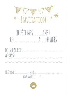 Carte D Invitation Anniversaire Fille A Imprimer Gratuitement