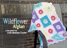 Wildflower Afghan Blanket Free Pattern