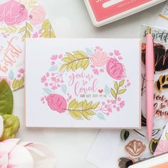 One Layer Floral Cards 4 Ways. Video tutorial by Yana Smakula Valentine Love Cards, Valentines For Kids, Valentine Crafts, Create Your Own Background, Simon Says Stamp, Flower Cards, Cardmaking, Giveaway, Stamps