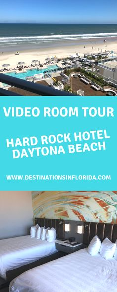 Ready to rock on? Daytona Beach has an amazing new family resort called Hard Rock. Check out these beautiful rooms overlooking the ocean. Top Family Vacations, Family Resorts, Family Travel, Daytona Beach Resort, Daytona Beach Florida, Florida Vacation, Florida Beaches, Florida Adventures, Seaworld Orlando