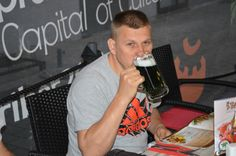 Green Beer in Maribor. We were assured that it is a natural process. The taste was great! www.motorcycle-tours.travel