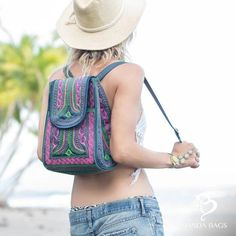 Beautiful Vegan Handmade Backpack Bags, Vegan and beautifully designed embroidery completely handcrafted by our artisans in Sumatra. Backpack Online, Happy Week End, Commuter Bag, Winter Fashion Outfits, Bag Sale, Women's Accessories, Boho Chic, Style Fashion