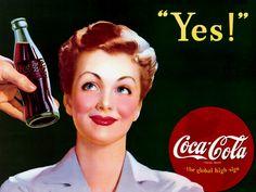 Beauty N FashionLove: Eski Coca Cola Reklamları / Old Coke Ads Coca Cola Poster, Coca Cola Ad, Always Coca Cola, Coca Cola Vintage, Vintage Advertisements, Vintage Ads, Vintage Prints, Retro Ads, Sodas