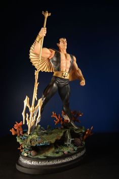 Namor Black #Statue Sculpted by: Randy Bowen   Release Date: February 2006   Edition Size: 1500   Order of Release: Phase III (statue #61)   #Marvel #Comics