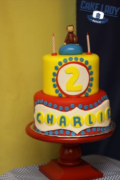 Charlie's Curious George Second Birthday Cake