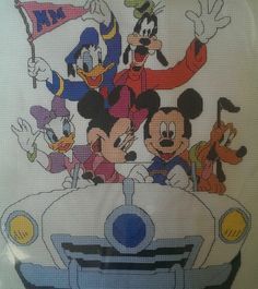 Cruisin Mickey Mouse And The Gang Disney Counted Cross Stitch Kit 10x8  #WaltDisney