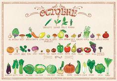 Voici le calendrier des fruits & légumes d'Octobre