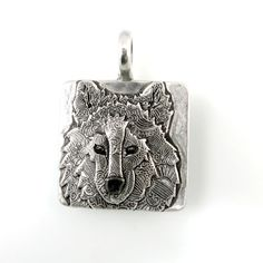 Sterling Silver Wolf Pendant Wolf Head Pendant by TheSilverPendant