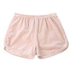 Elastic Waist Casual Velvet Shorts ($16) ❤ liked on Polyvore featuring shorts, elastic waistband shorts, elasticated waist shorts, pink shorts, velvet shorts and stretch waist shorts