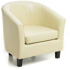Roberto Cream Single Tub Chair - Armchairs - Furniture - Furniture by Sabichi