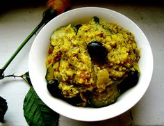 tasty rice with curry and vegetables
