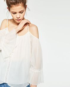 Imagem 6 de TOP OMBROS DESCOBERTOS da Zara