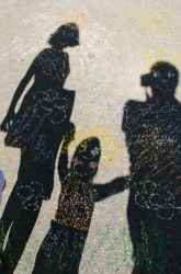 Activities: Draw Shadow Art - Good summer activity for little ones!