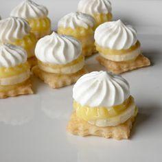 Bite size banana cream pies http://food-pusher.blogspot.com/2012/02/bite-size-banana-cream-pie.html