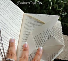 Book Page Folding Tutorial