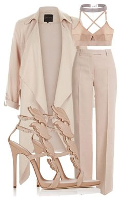 """""""Nudestyle"""" by ashleycottle on Polyvore featuring Emilio Pucci, Giuseppe Zanotti, Base Range, women's clothing, women, female, woman, misses and juniors"""