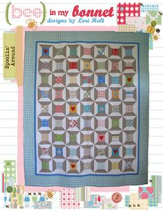 "Spoolin' Around by Lori Holt. Pattern for 72"" x 88"" Quilt $14.00 on Etsy at http://www.etsy.com/listing/106460035/spoolin-around?ref=shop_home_active"