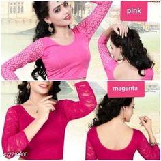 Blouses Unique Designer Cotton Spandex Blouses ( Pack Of 2 ) Fabric: Cotton Spandex Sleeves: Sleeves Are Included Type: Stitched Description: It Has 2 Piece Of Women's Blouse Pattern: Solid Sizes: 36 (Bust Size - 36 in  Length Size - 15 in) 38 (Bust Size - 38 in  Length Size - 15 in) 40 (Bust Size - 40 in  Length Size - 15 in) Country of Origin: India Sizes Available: 36, 38, 40   Catalog Rating: ★4.2 (569)  Catalog Name: Siya Unique Designer Cotton Spandex Readymade Blouse Combo Vol 18 CatalogID_368585 C74-SC1007 Code: 714-2719900-3501