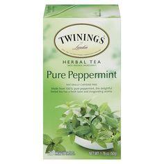Twinings Caffeine Free Pure Peppermint Herbal Tea 2 Oz Carton Of 25 Twinings Tea, Tea Brands, Peppermint Tea, Types Of Tea, Herbal Tea, Food Gifts, Caffeine, Herbalism, Pure Products