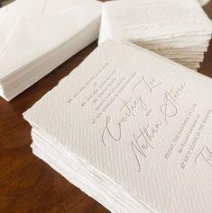 Dinglewood Design & Press (@dinglewooddesignandpress) • Instagram photos and videos Letterpress Wedding Invitations, Videos, Photos, Instagram, Design, Pictures